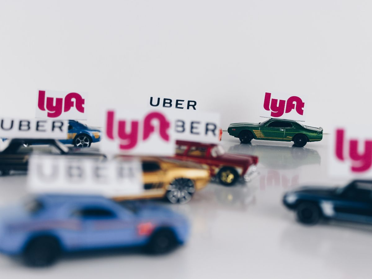 Uber and Lyft model cars