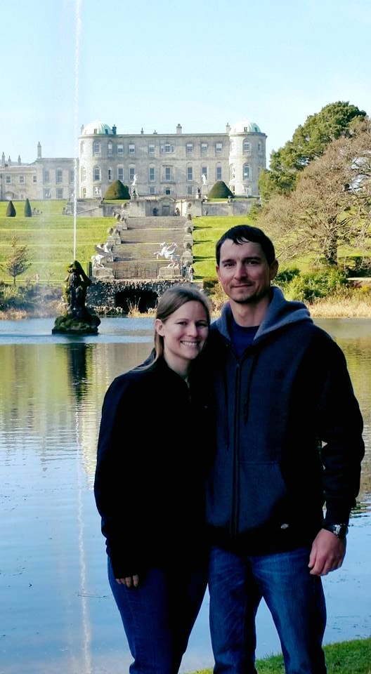 Dr. Parham and, then, fiance Cory at Powerscourt Estate located in Enniskerry, Ireland, March 2016