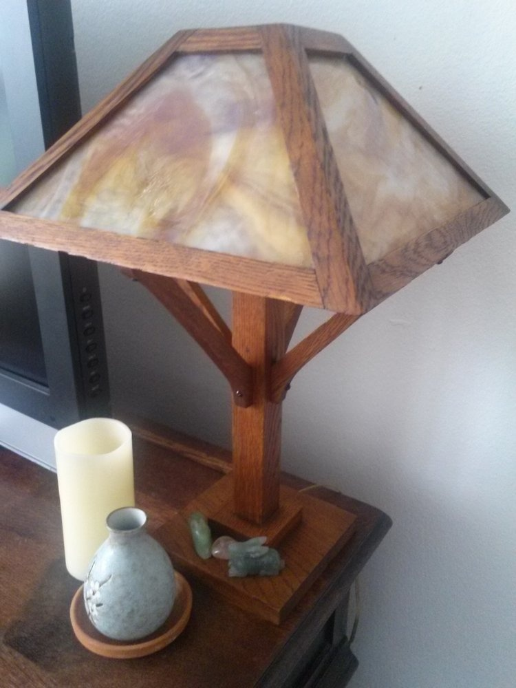 Unique Wooden Lamp