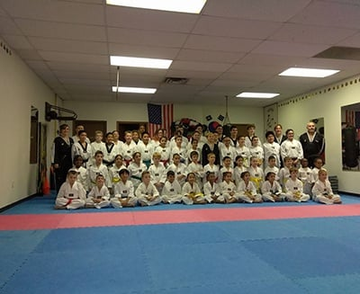 Group Of Young Taekwondo Players