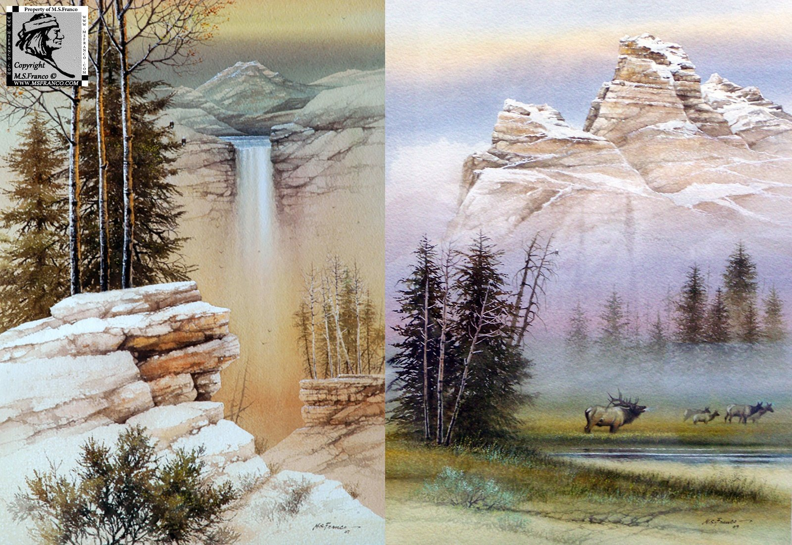 """The Great Cascade""    and  ""Up in the High country"""