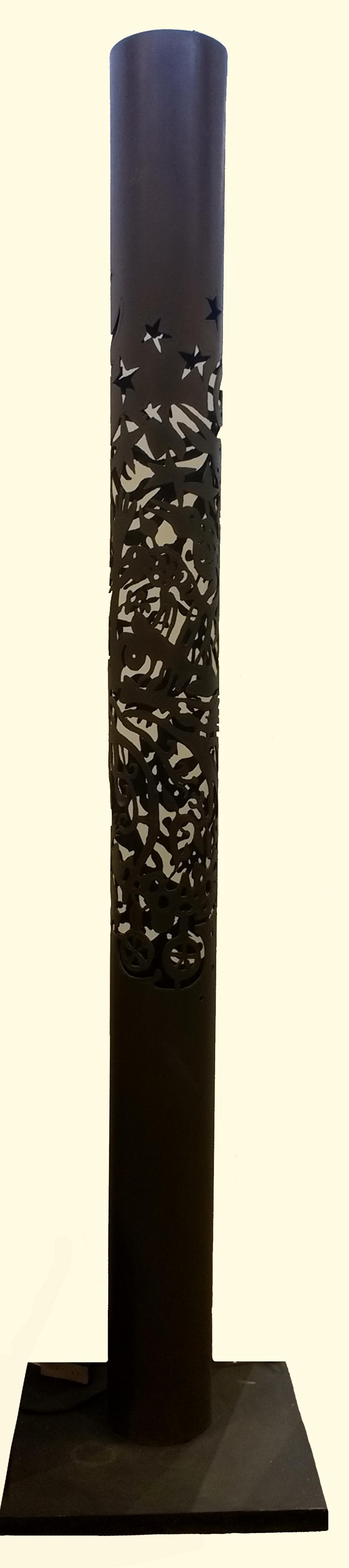 Lámpara Acero corte plasma 248 x 55 x 55