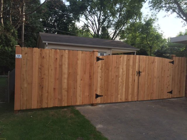Solid Dog Ear Fence and Custom Drive Way Gate