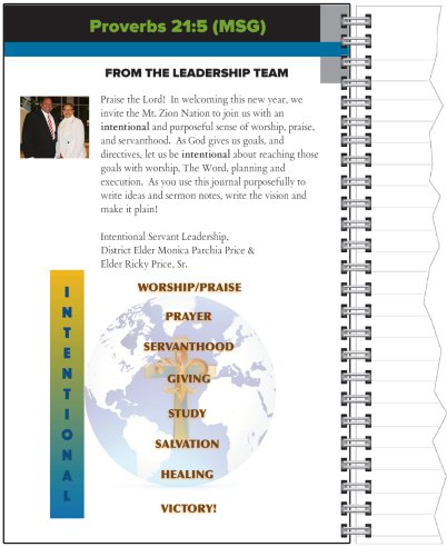 Inside cover, message from Leadership Team