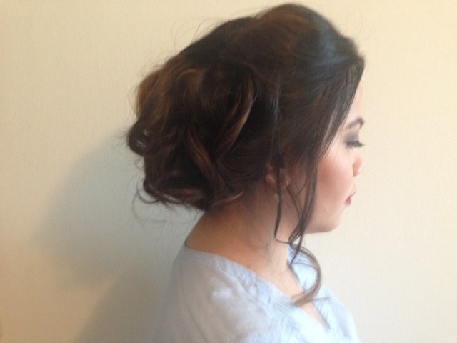 Updo With Loose Curls 3