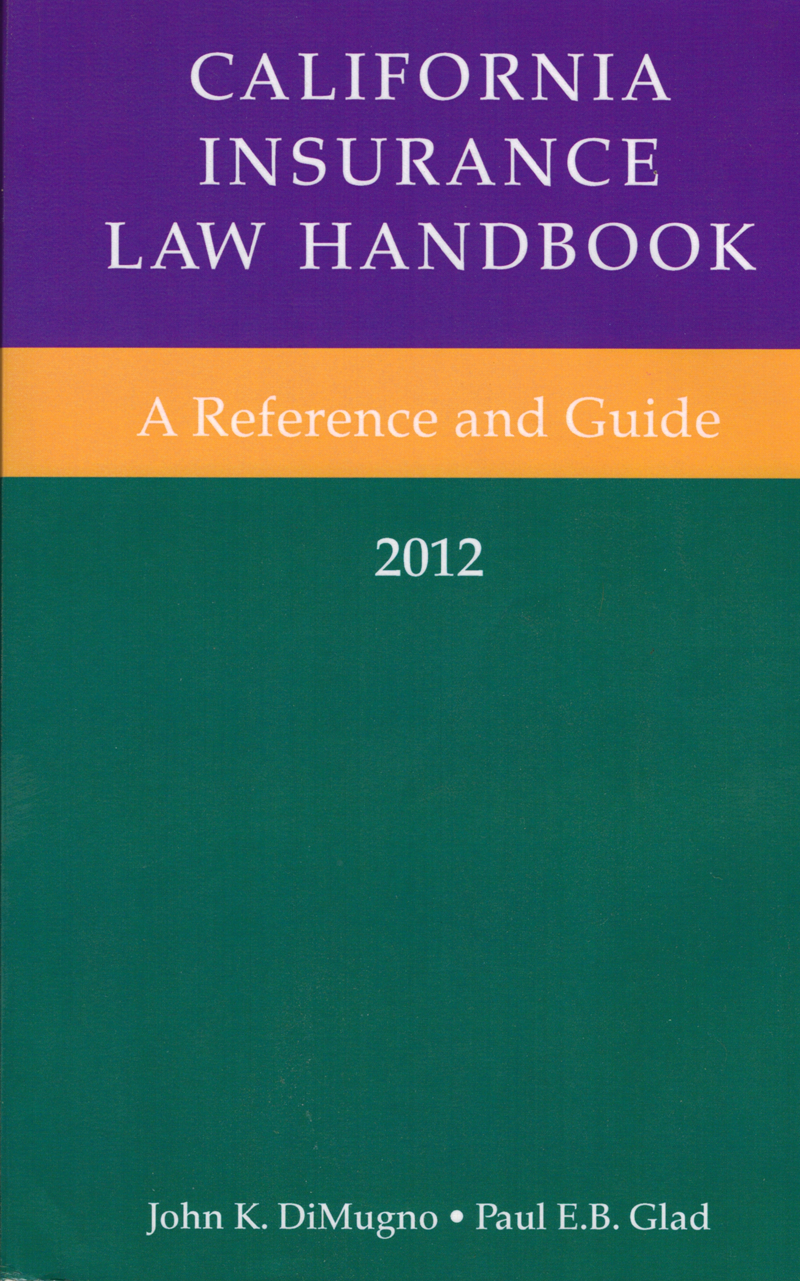 California Insurance Law Handbook cover