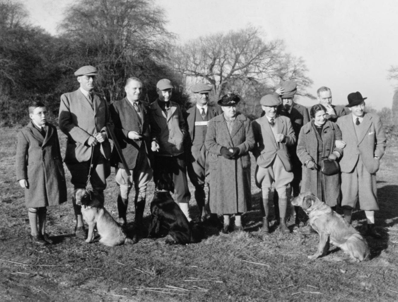 Three generations of Gough's at Lackford Shoot in December 1942
