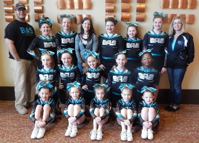 Young Cheerleading Team