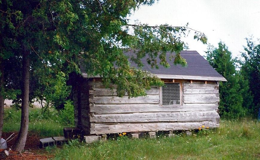 Log Cabin display - original to property
