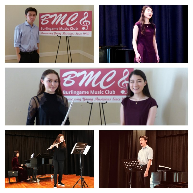 Photo collage of student performers.