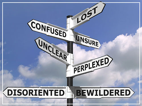 Lost And Confused Signpost