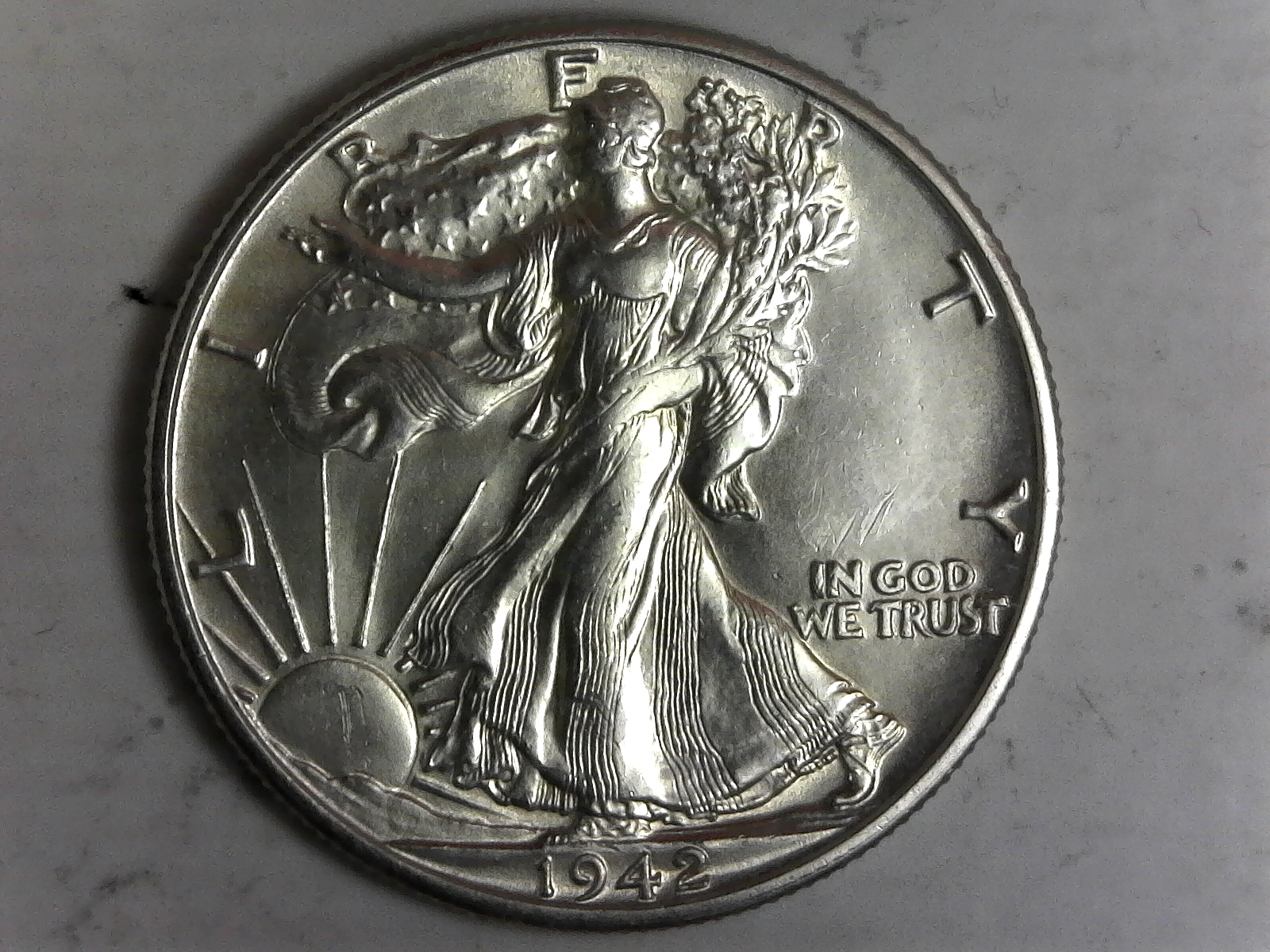 Click on Walking Liberty Half  Dollar for Online Inventory