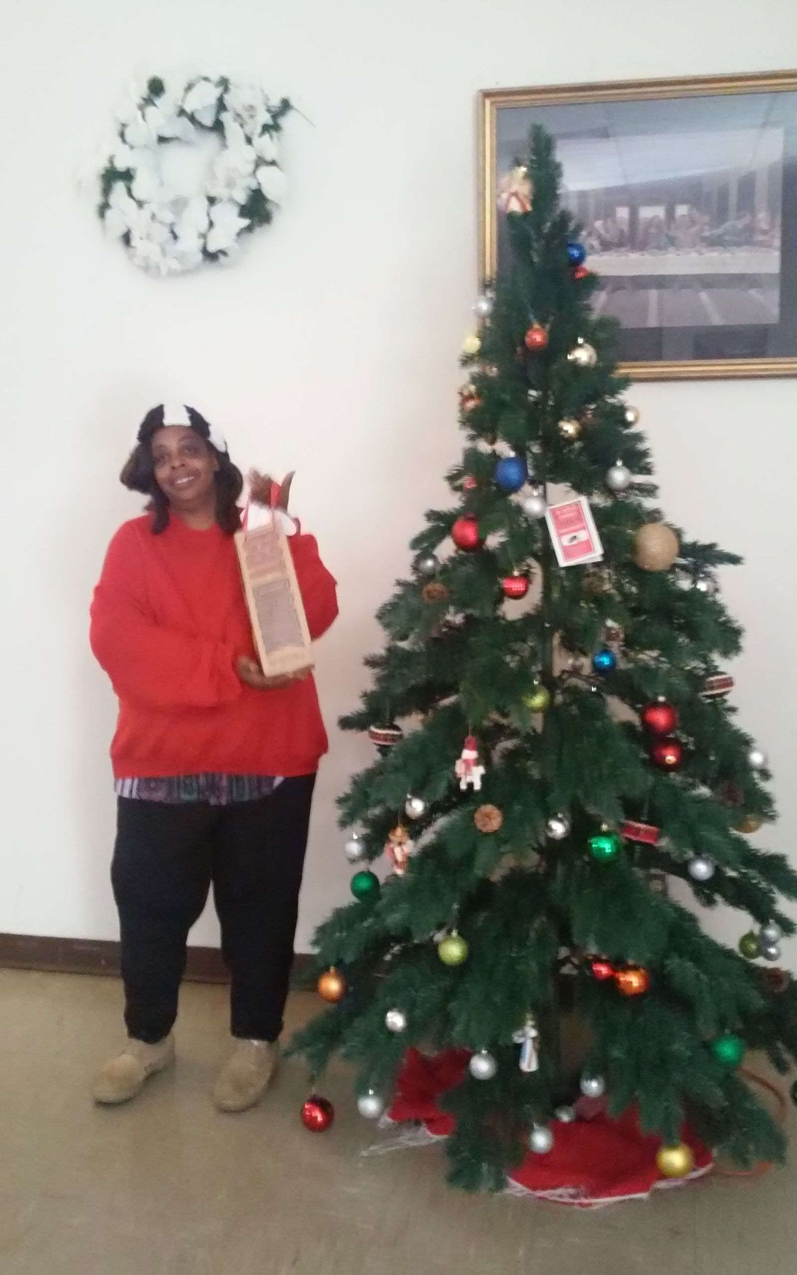 Church Christmas Tree and Gift