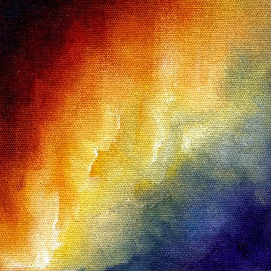 "Cosmic Light I ~ 6"" x 6"" Oil on Canvas Panel"