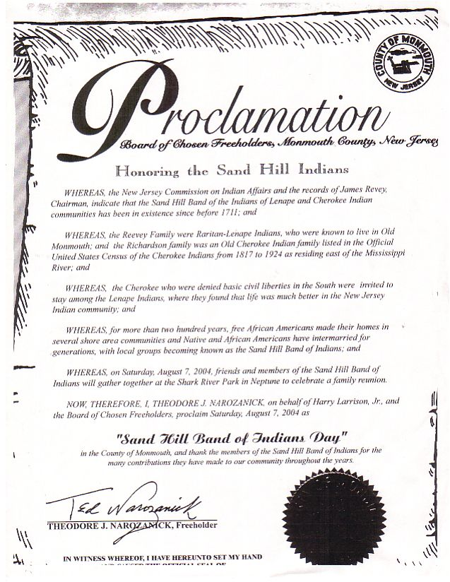Monmouth County Proclamation