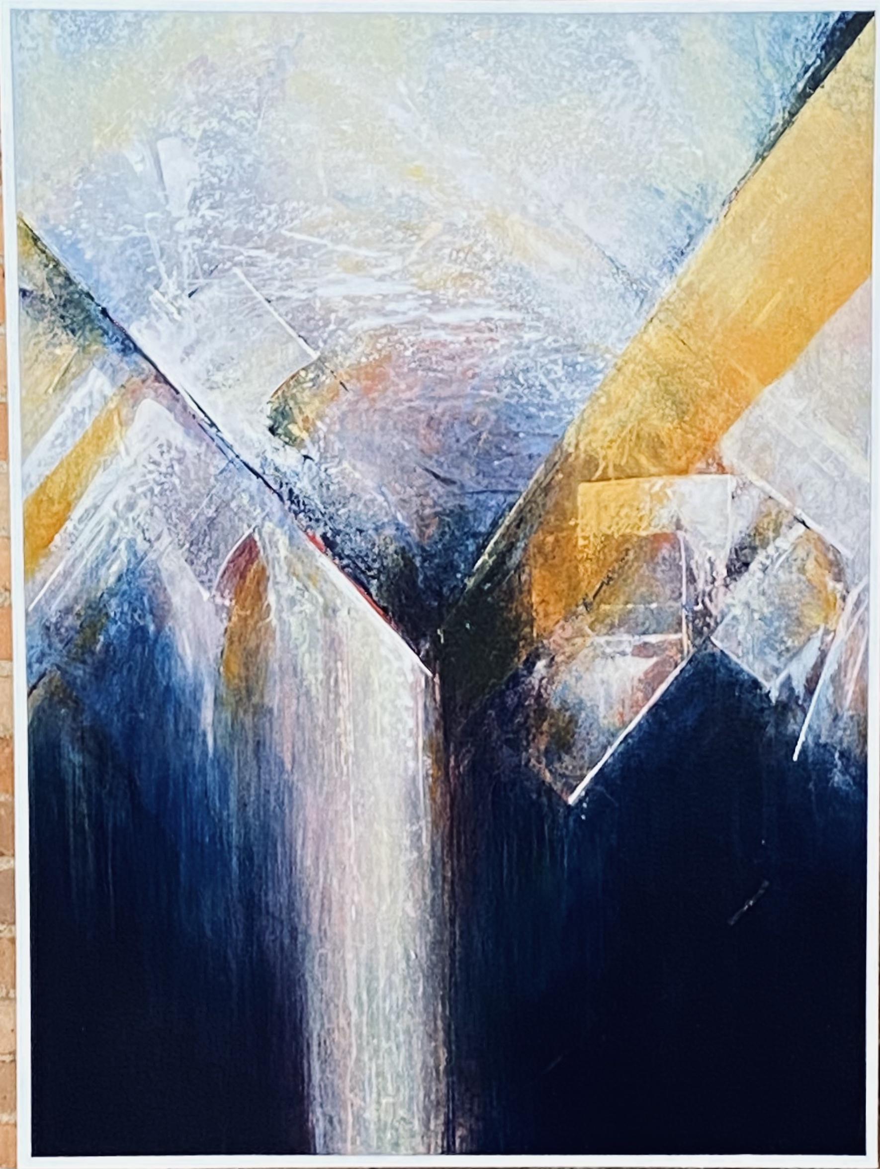 "Abstract Acrylic 36"" X 48"" $725."