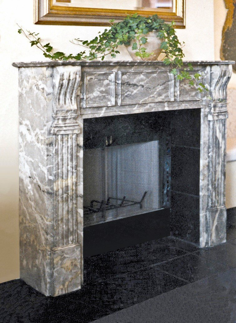 Faux Verde Grande Fireplace