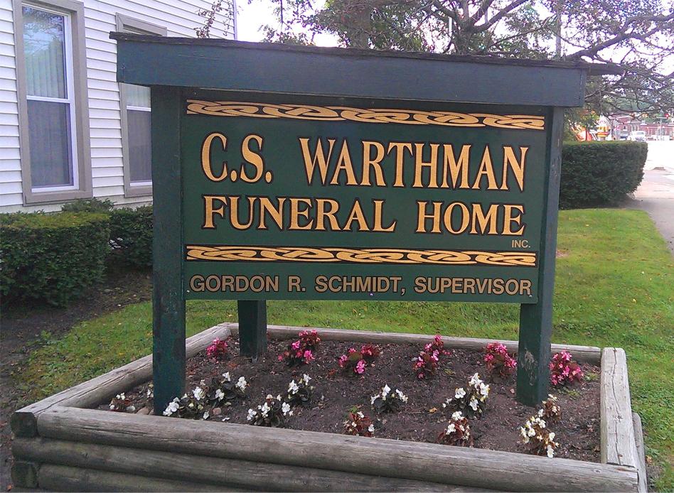Warthman Funeral Home Sign||||