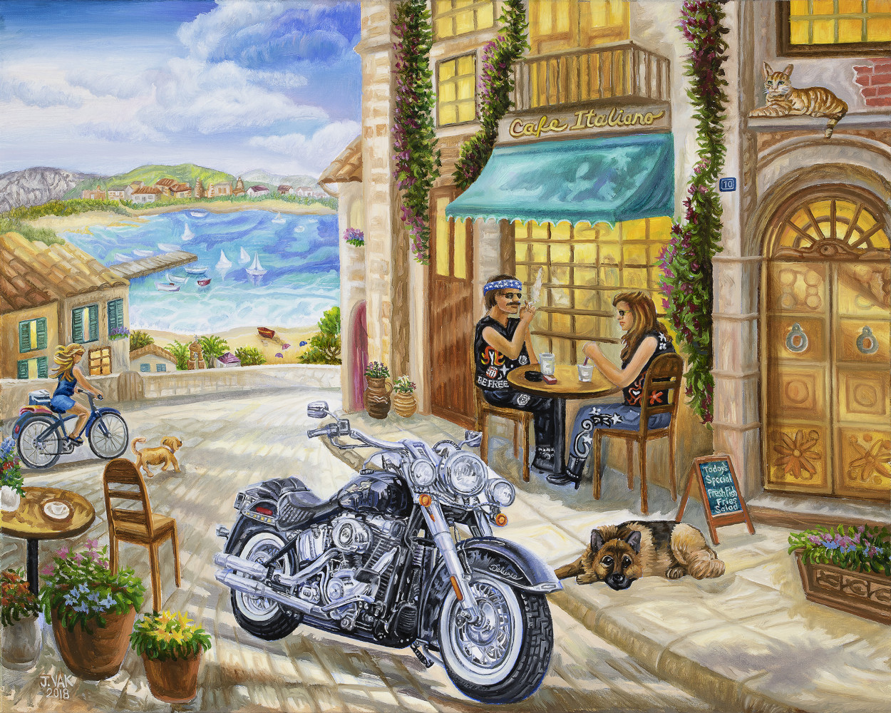 Harley Davidson Vacation 24 X 30 Original Oil            $2500             2019