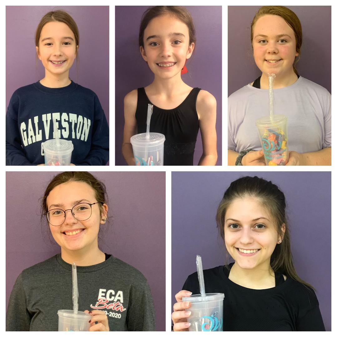 December Spotlight Students! Jillian Cantrall  Grace Ortis  Ryleigh Guidry  Zoe Sudul  Gabriella Cormier