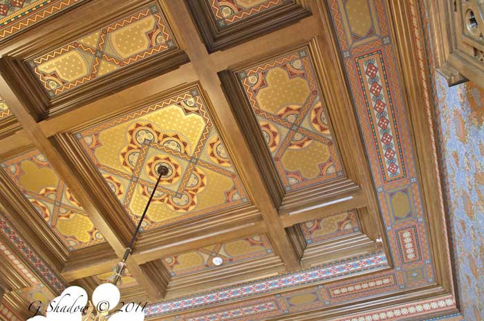 English Walnut Grained Ceiling