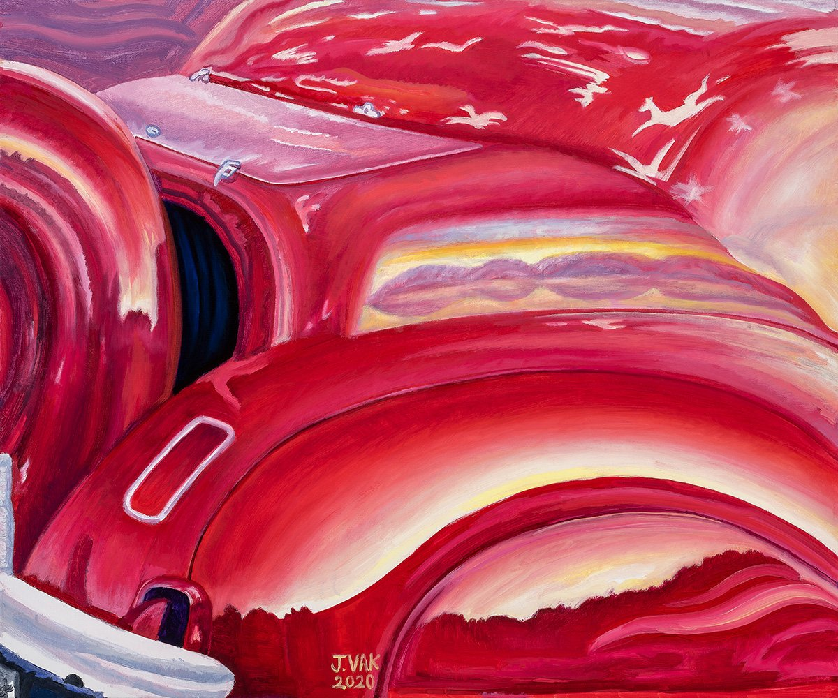 Abstract No. 1 1967 Chevrolet Stingray Converible 20 X 24 original oil           $1200           2020