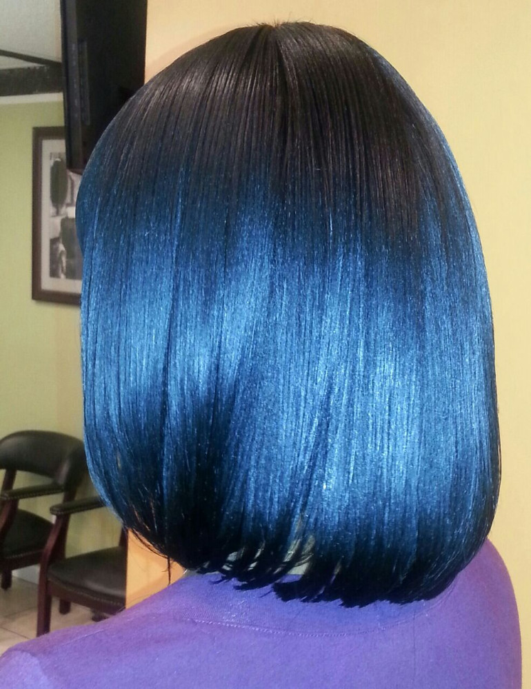 FULL SEW -IN WEAVE / NO HAIR LEAVE OUT