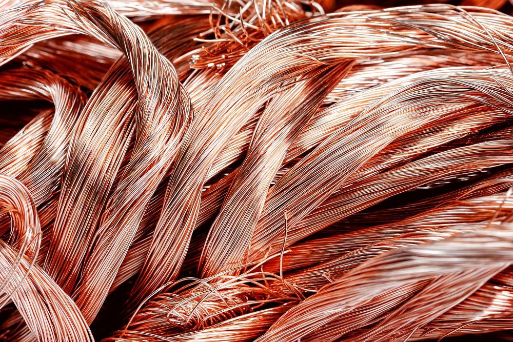 Copper wiring scrap metal