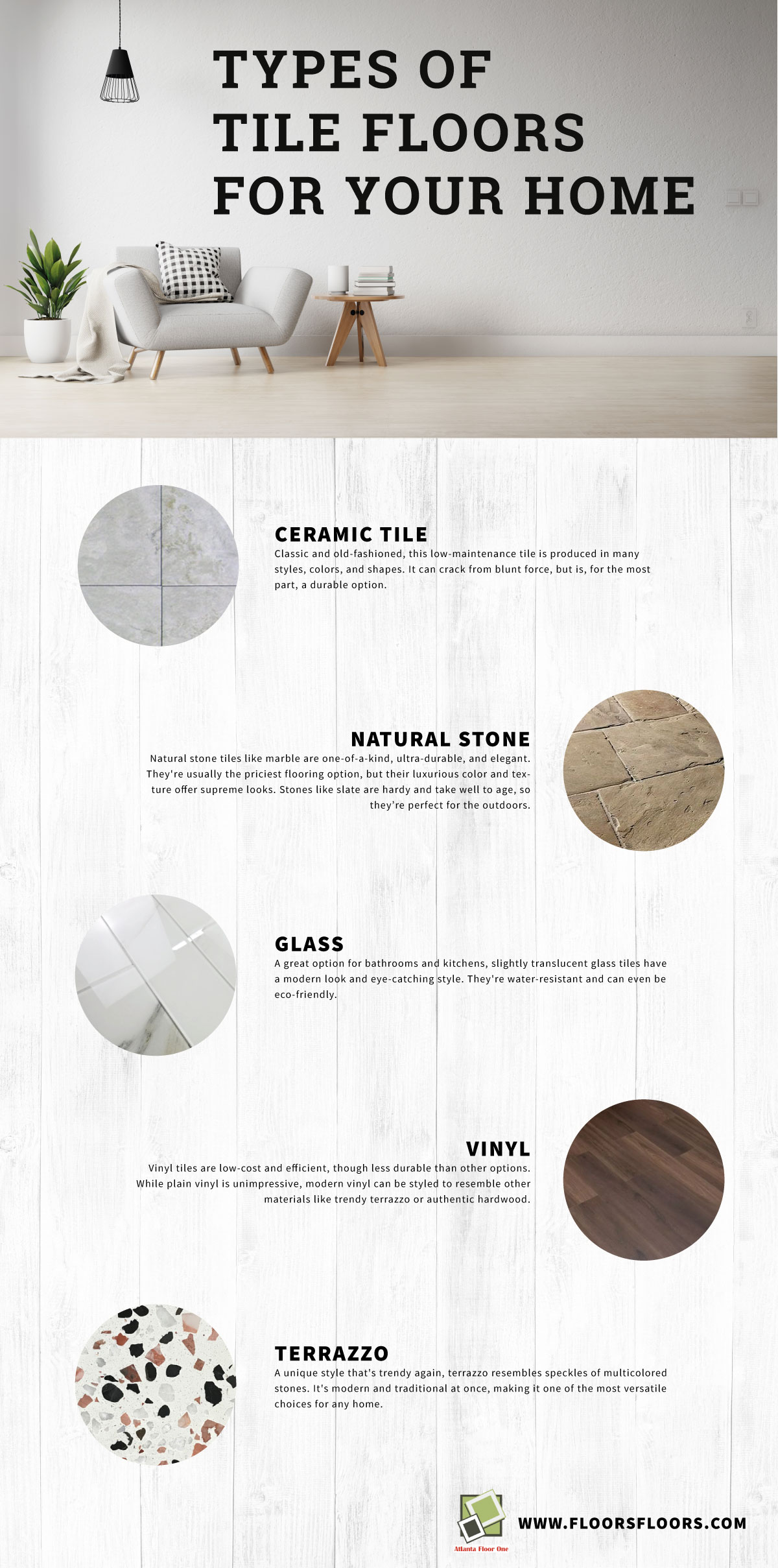 Types of Tile Floors for Your Home