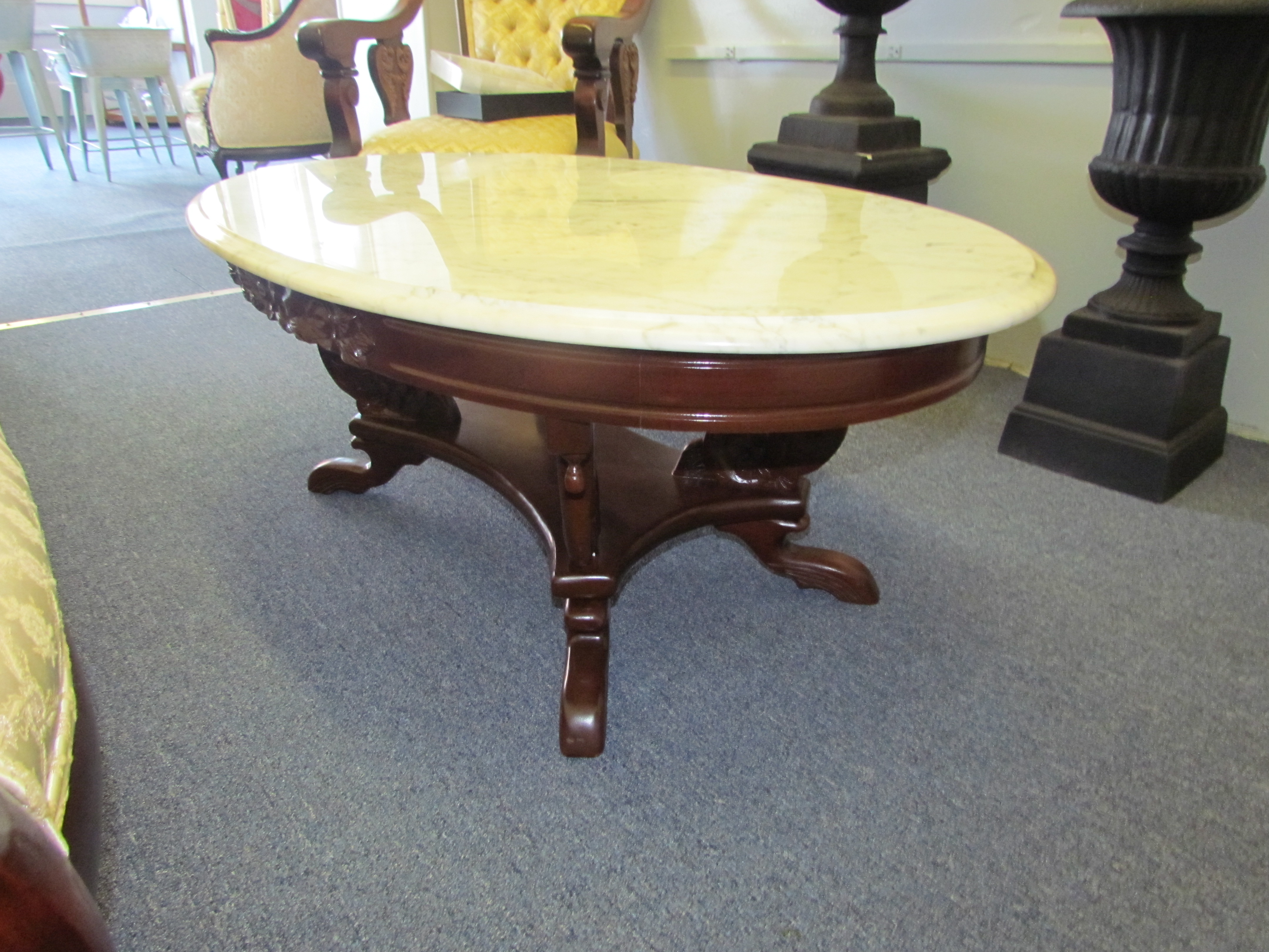 Vintage Marble Top Coffee Table $40 / Day