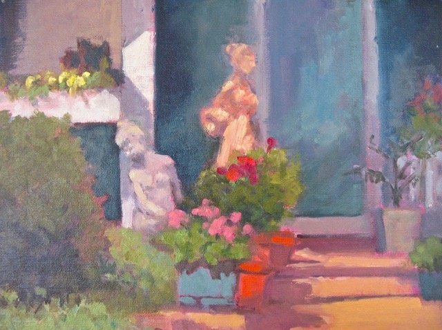 "Gray Dodson, Porch Maidens, 11"" x 14"" Oil"