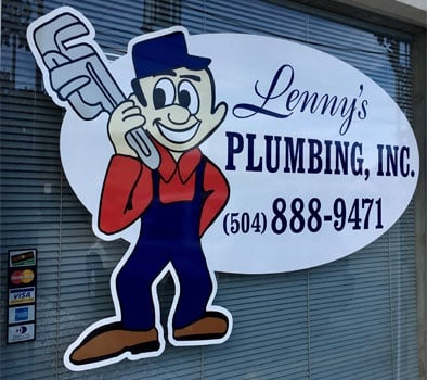 Plumbing Company Office Window