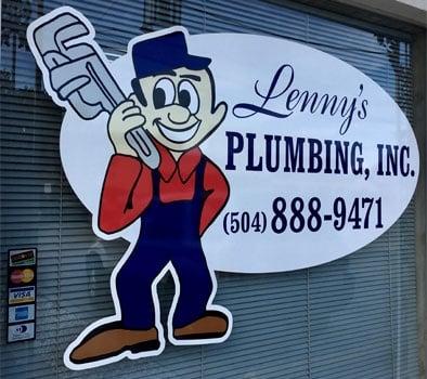 Plumbing Company Office Window