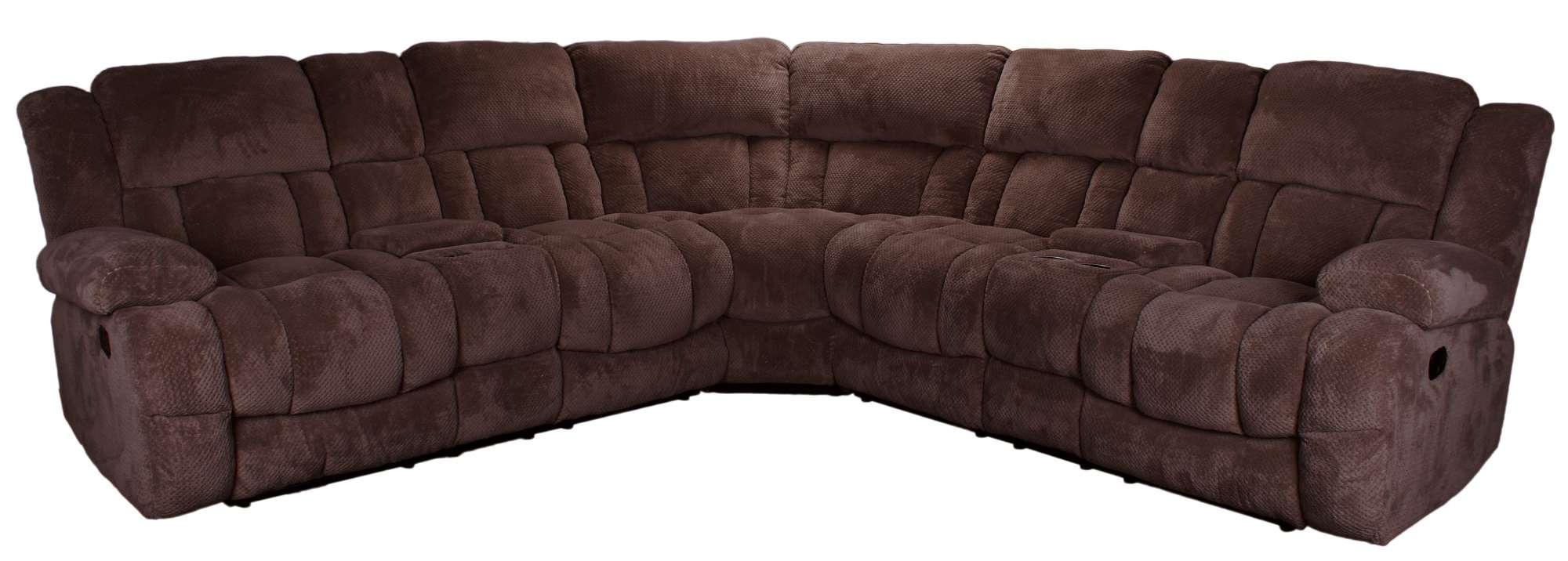 LR20407 3Piece Reclining Sectional Sofa