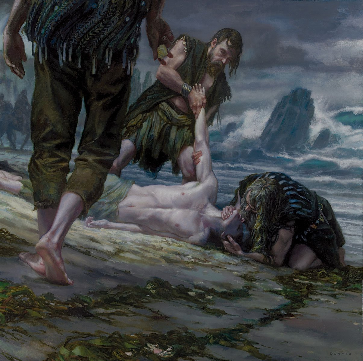 "What is Dead Cannot Die     30"" x 30""  Oil on Panel 2014   Calendar image for A Song of Ice and Fire by George R.R. Martin"