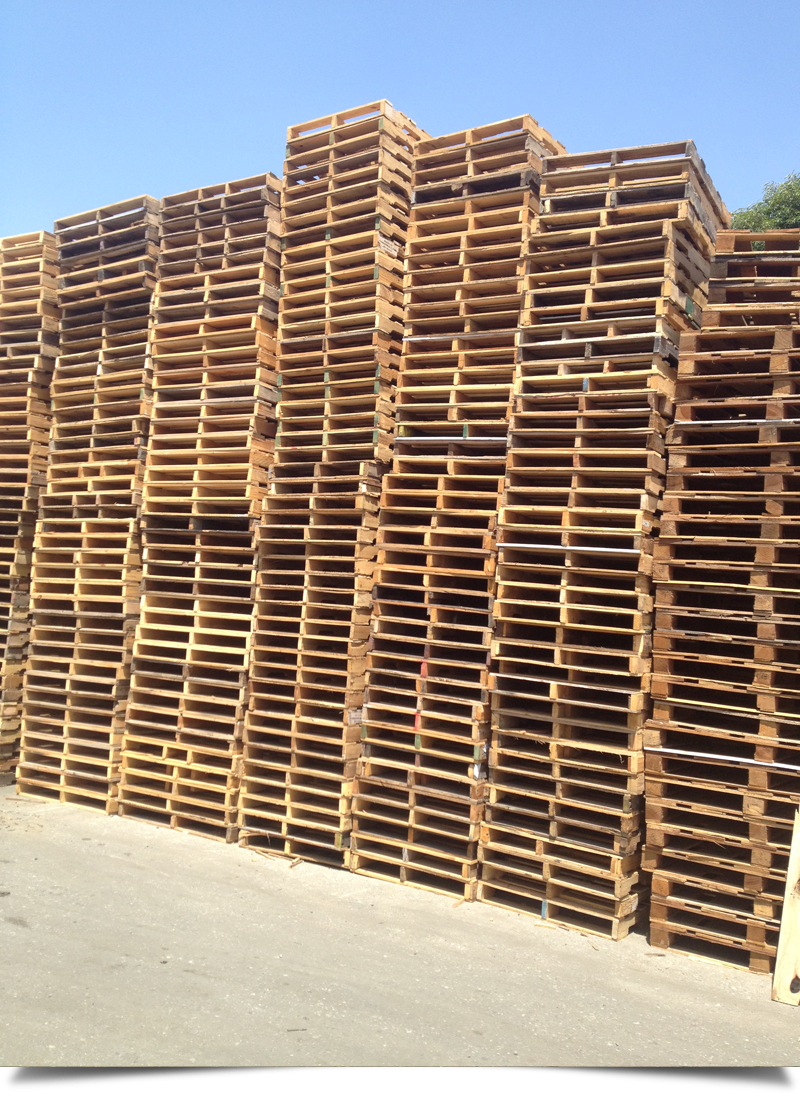 Wood Pallets Stacked||||