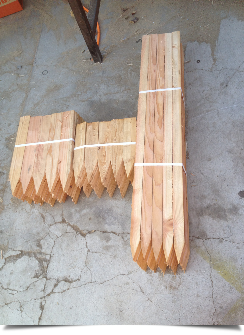 Wood Stakes for Construction||||