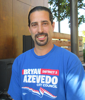 Bryan Azevedo says he's more of a man of the people than opponent Ed Hernandez.