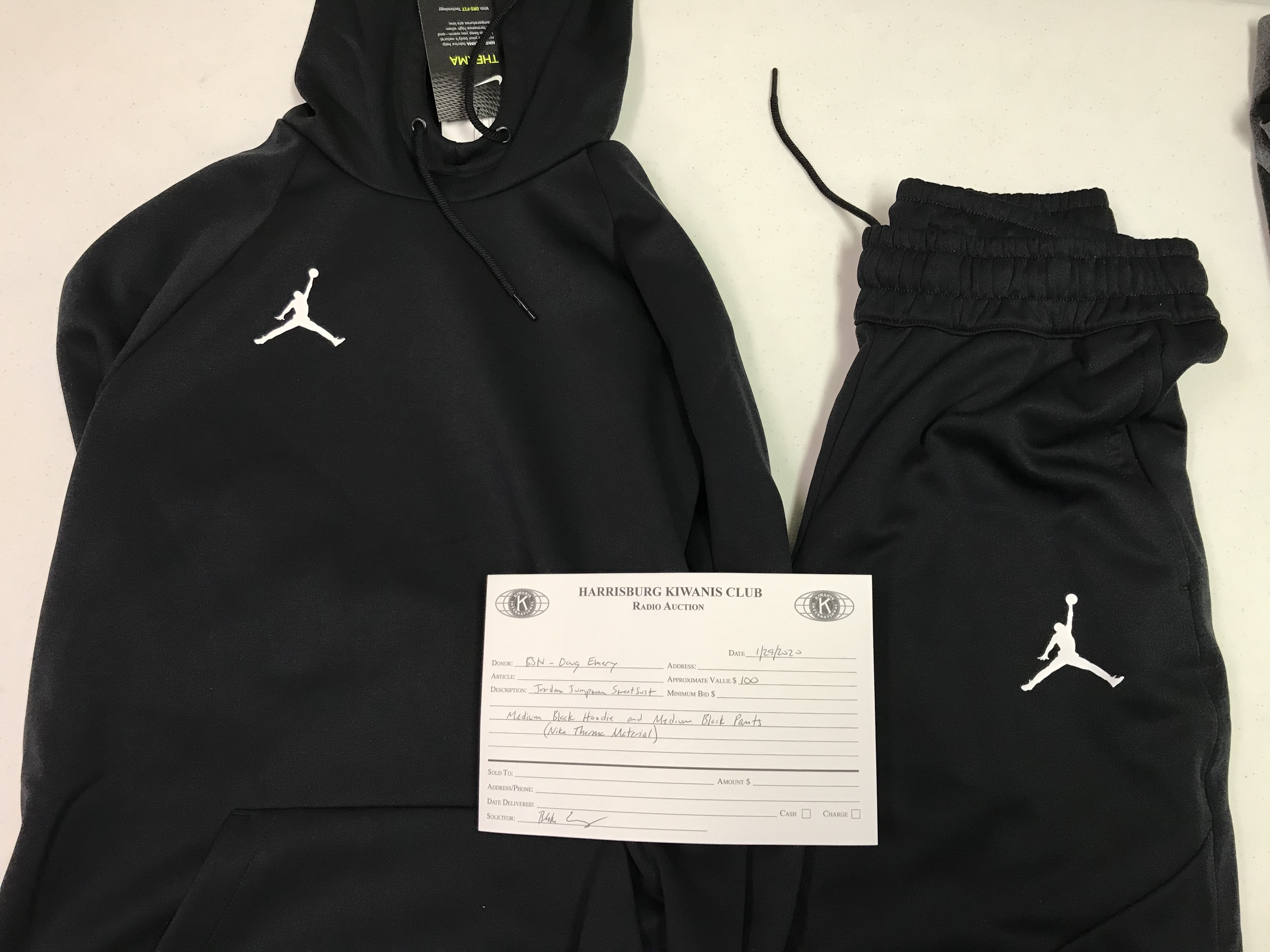 Item 436 - BSN - Doug Emery Jordan Jumpman Sweatsuit - Medium Hoodie and Medium Pants
