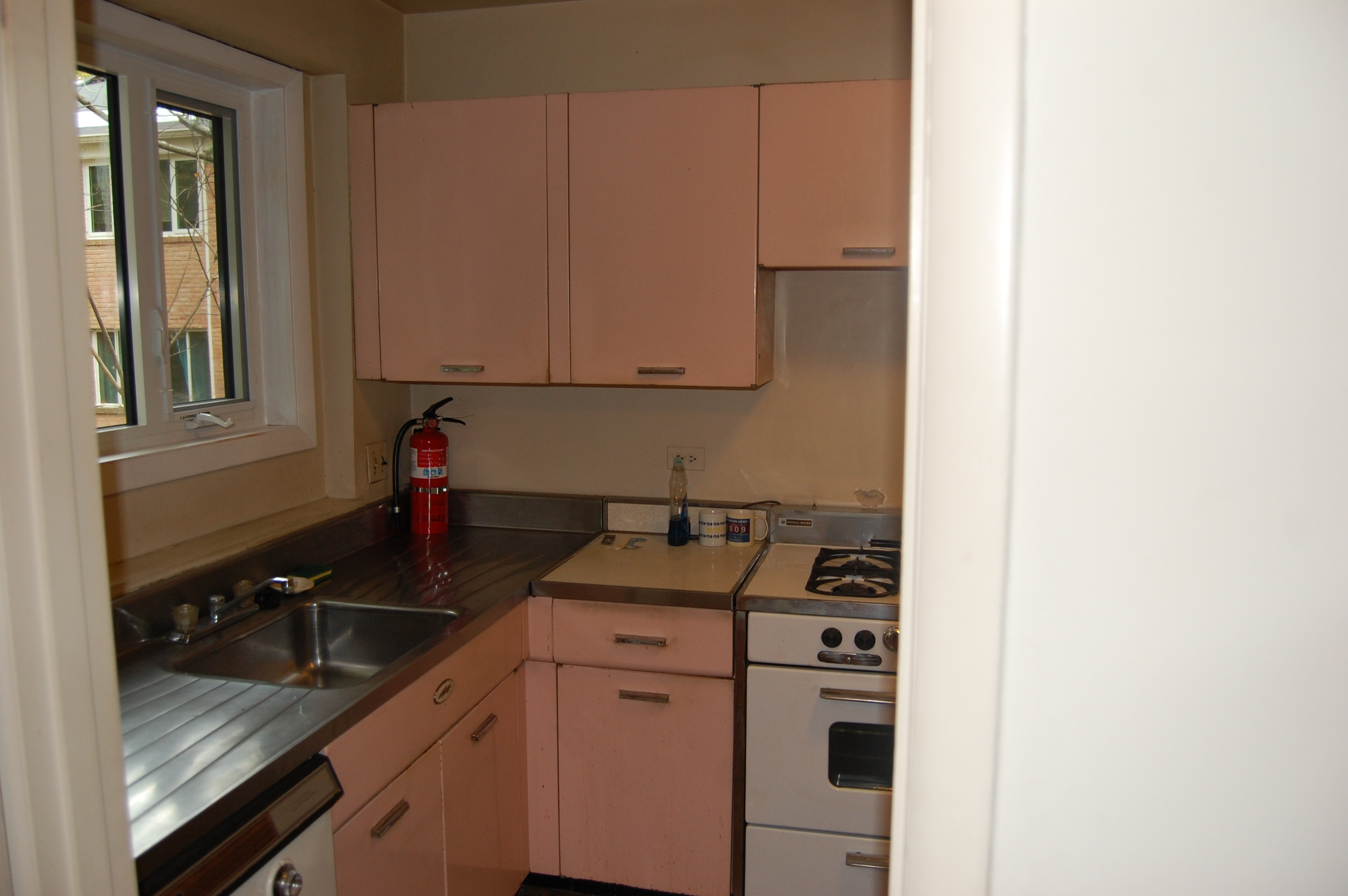 kitchen remodel before  B