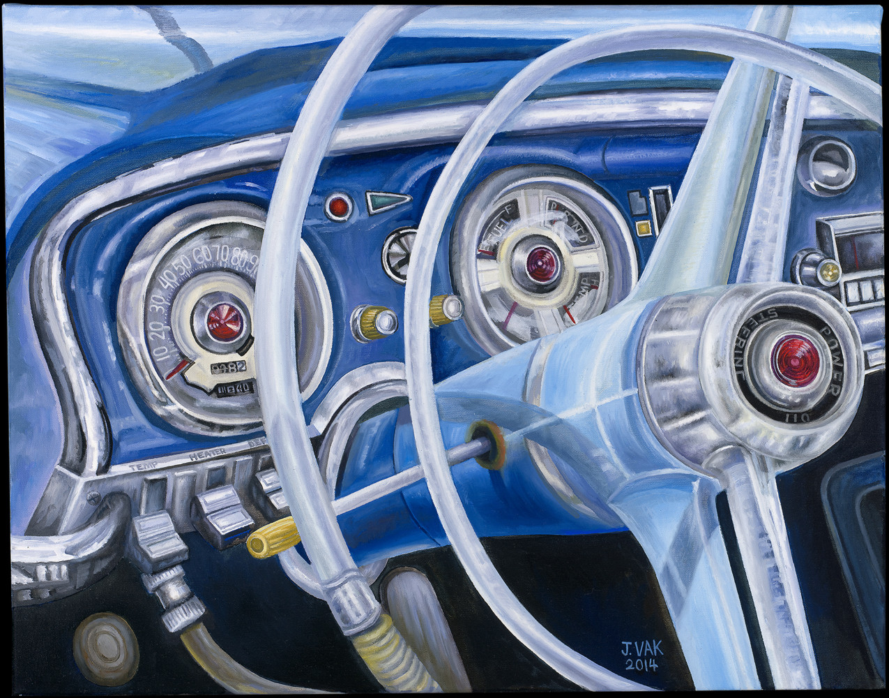 1960 Chrysler Windsor Interior           22x28 Original Oil                    $3500                     2014