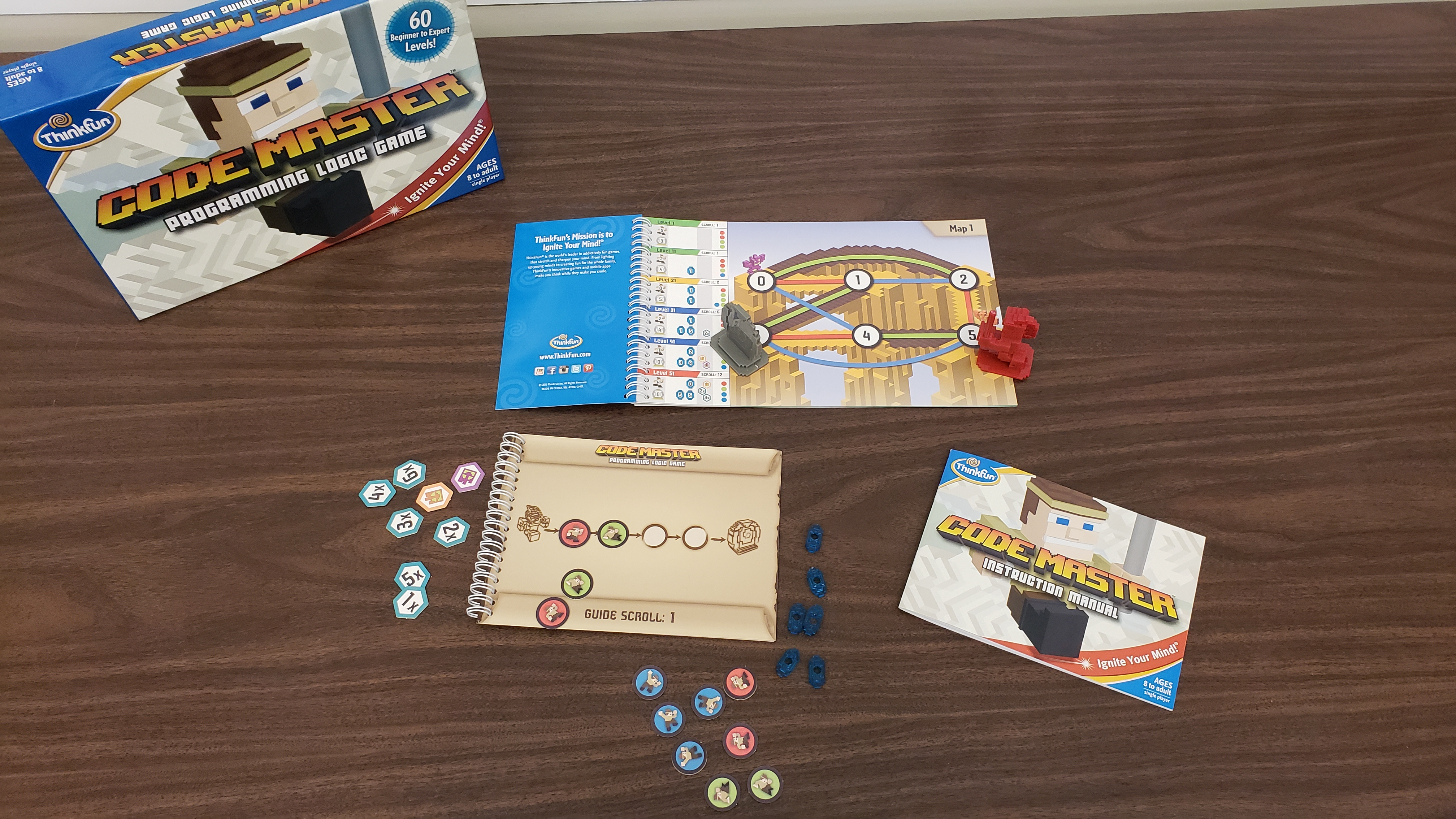Coding Board Game: Code Masters. Ages 8 to Adult. Singleplayer.