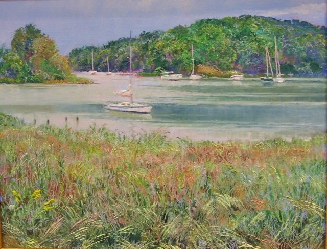 16. Serene View, Quiet Waters, 8x10 oil on canvas