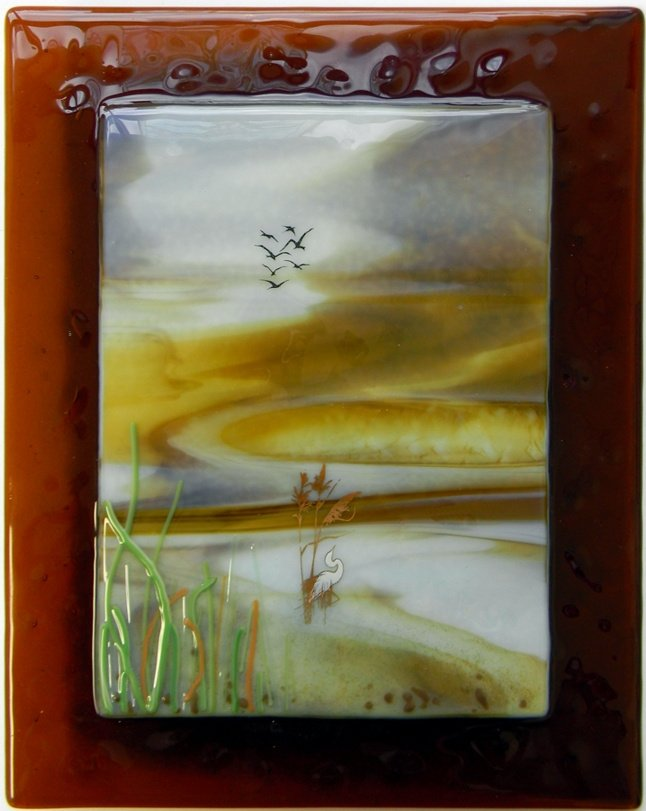 """Autumn"" by Nataliya Guchenia Glass Size - 10""H X 8""W $275.00"