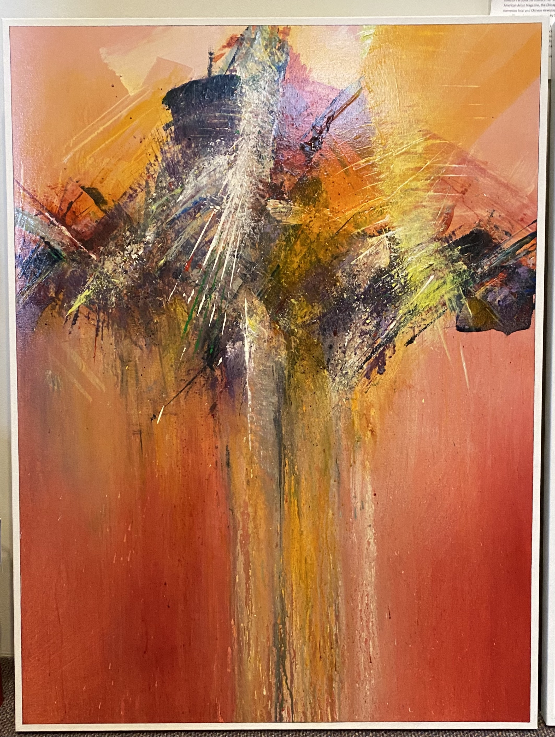 """Abstract Acrylic 30"""" X 40"""" $495. SOLD"""