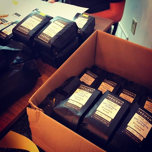 Boxes of Tremont Coffee Blends