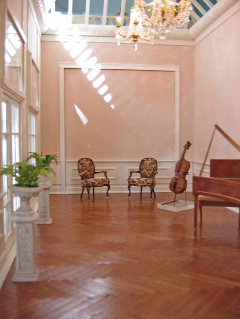 Chairs by Nancy Summers; Harpsichord by Orvin Fjare