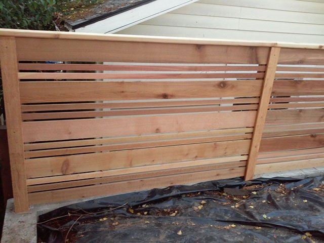 Custom Horizontal Board Fence