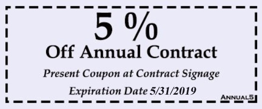 5% Off Annual Contract
