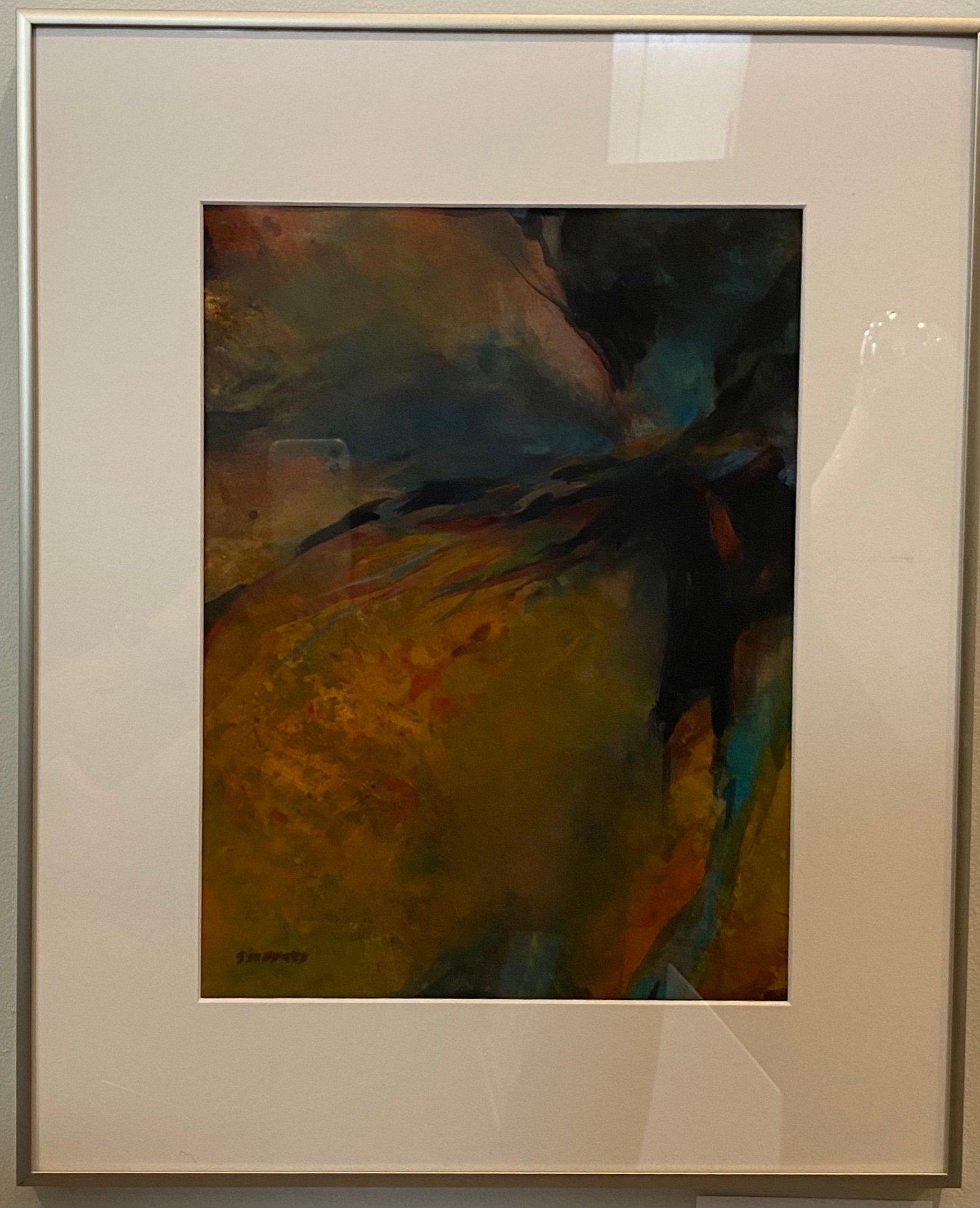 """Blue Streak Watercolor 10.5"""" X 14"""" $300."""